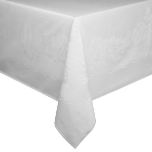 image of a white tablecloth
